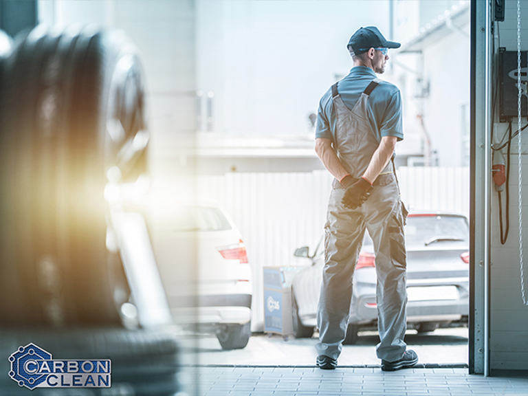 mechanic in a automotive workshop